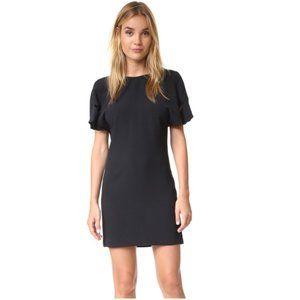 IRO Hilda Open Back Draped Crepe Mini Dress sz 36